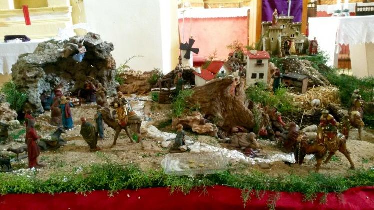 Belén de la iglesia de Castillejo del Romeral