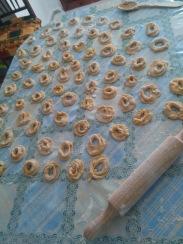 Rosquillas con forma tubular